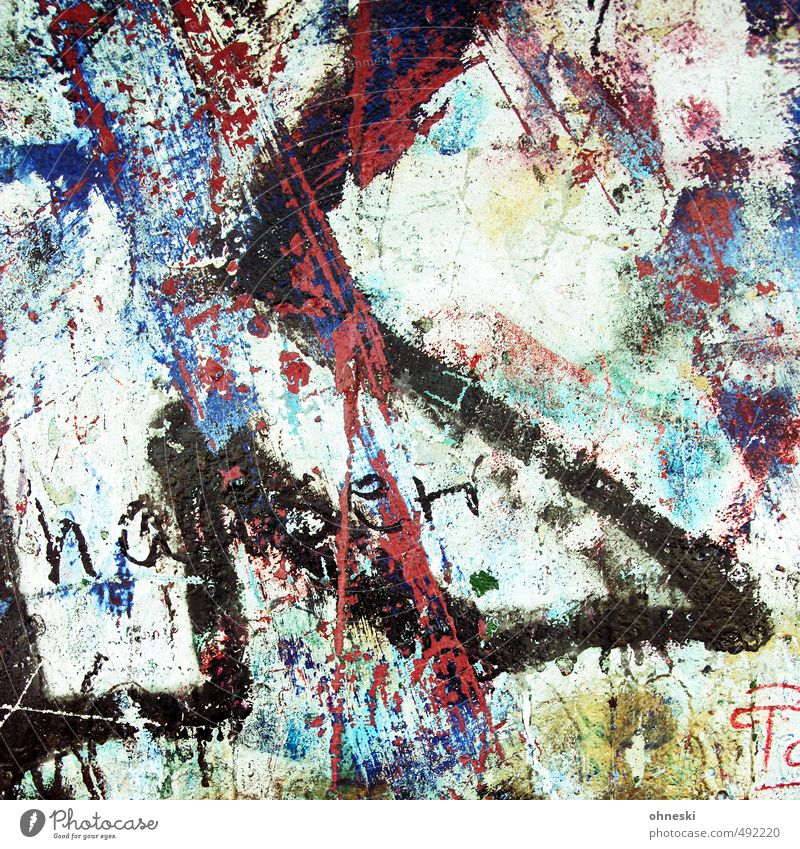 Graffiti Wall (building) Wall (barrier) Art Facade Characters Chaos Lack of inhibition