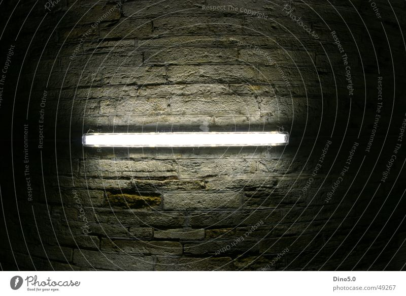 Dark Stone Bright Lighting Broken Tunnel Blanket Fluorescent Lights