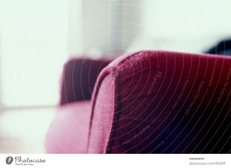 Red Calm Relaxation Think Bright Sit Sofa