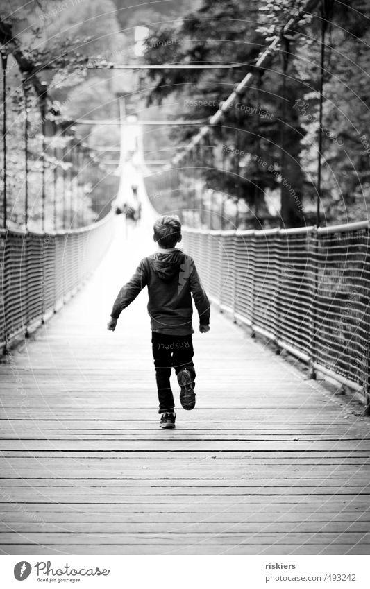 over the suspension bridge :) Human being Masculine Child Boy (child) Infancy Life 1 3 - 8 years Park Bridge Walking Running Free Uniqueness Natural Joy