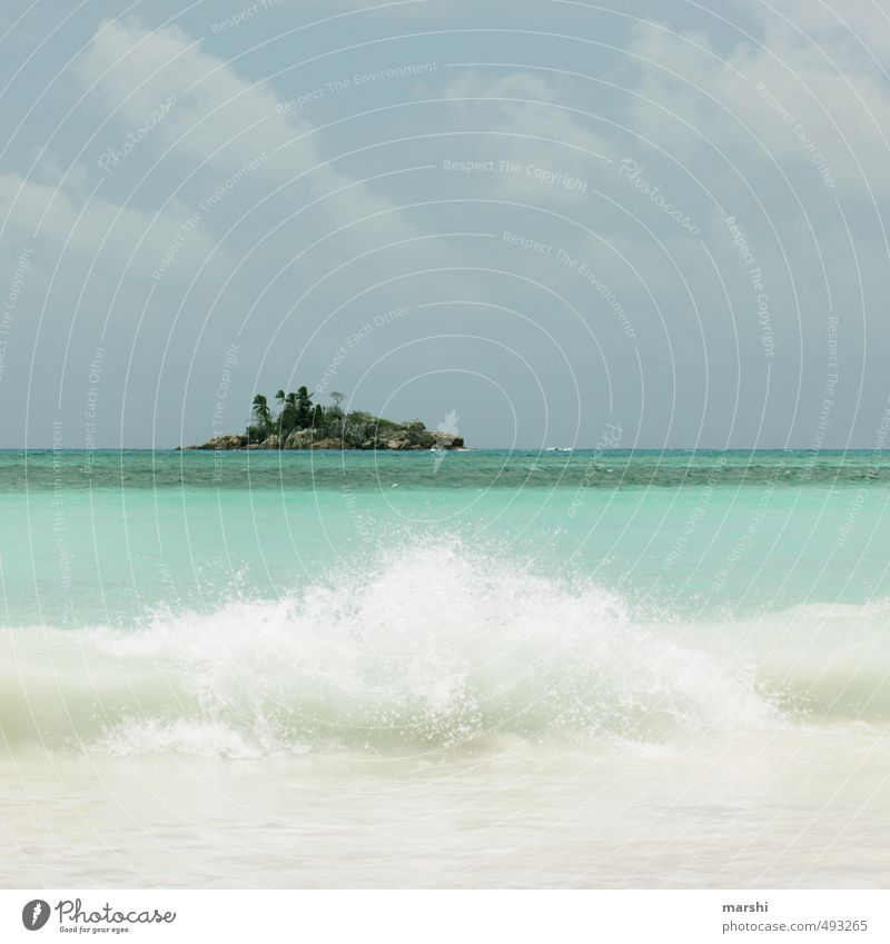 ST. PIERRE Nature Landscape Sky Clouds Summer Beautiful weather Waves Coast Beach Ocean Blue Island Seychelles Turquoise Vacation & Travel Vacation mood