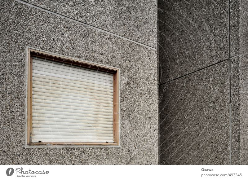 House (Residential Structure) Window Architecture Wall (building) Building Wall (barrier) Stone Facade Gray Gloomy Closed Concrete Apartment Building