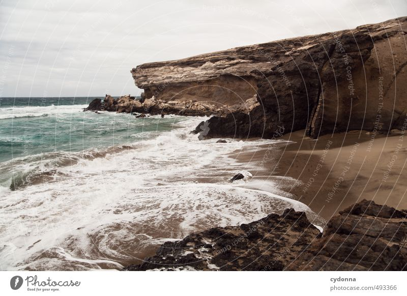 wild coast Vacation & Travel Adventure Far-off places Freedom Summer vacation Environment Nature Landscape Water Horizon Wind Rock Waves Coast Beach Bay Ocean
