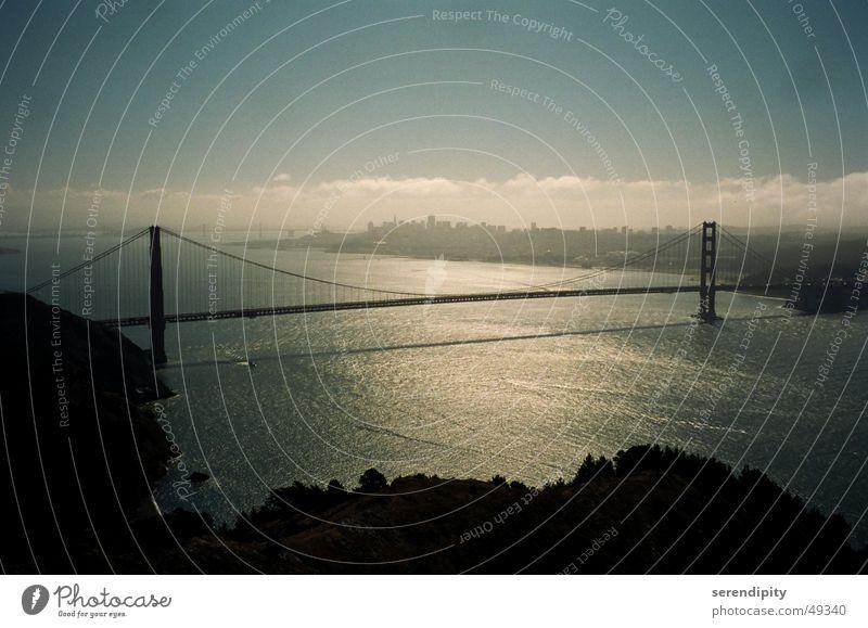 Water Street Fog Bridge Highway Bay California San Francisco Golden Gate Bridge