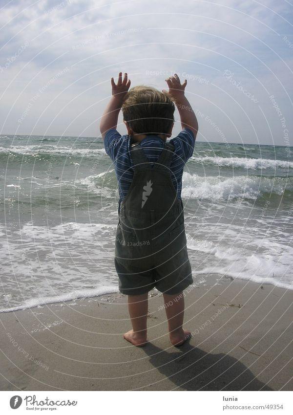 Child Water Sun Ocean Summer Beach Vacation & Travel Boy (child) Sand Baby Waves Toddler Baltic Sea Denmark