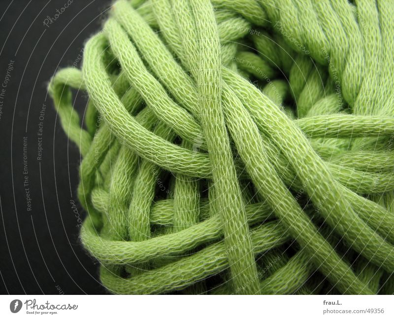 coiled Knot Knit Ball of wool Wool Wound up Craft (trade) Green Leisure and hobbies Clothing Sewing thread Handcrafts