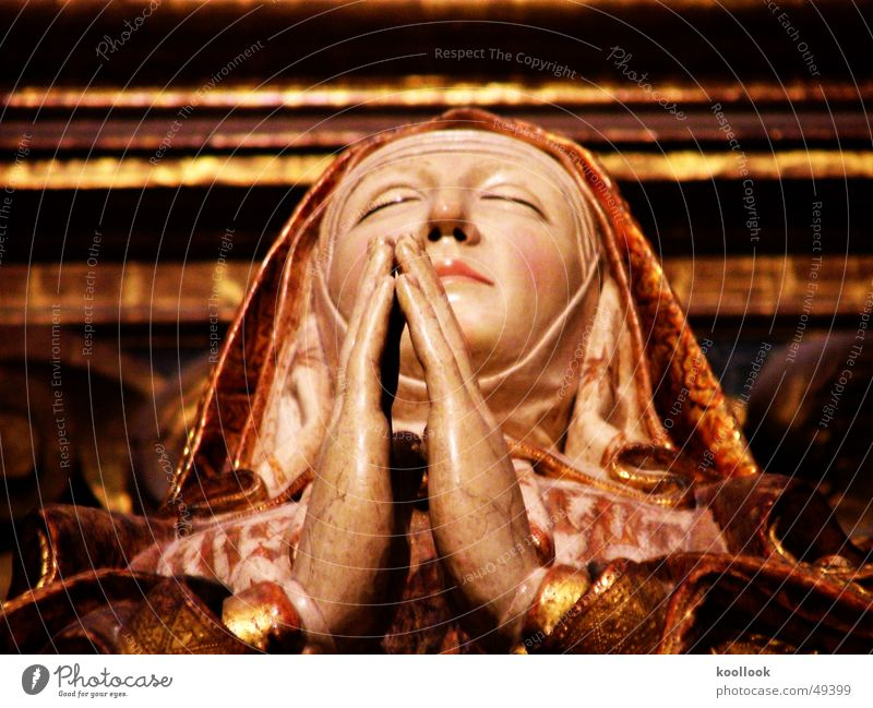 Old Religion and faith Lie Prayer Holy Cathedral Virgin Mary