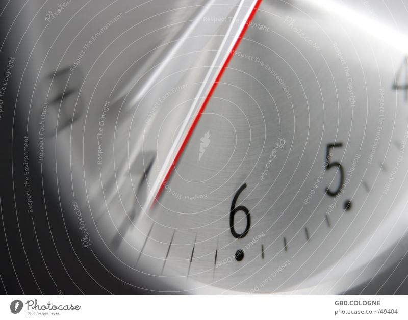 Time Metal Clock Communicate Planning Technology Digits and numbers Clock face 5 Haste Section of image 6 Aluminium Second hand Clock hand Time machine