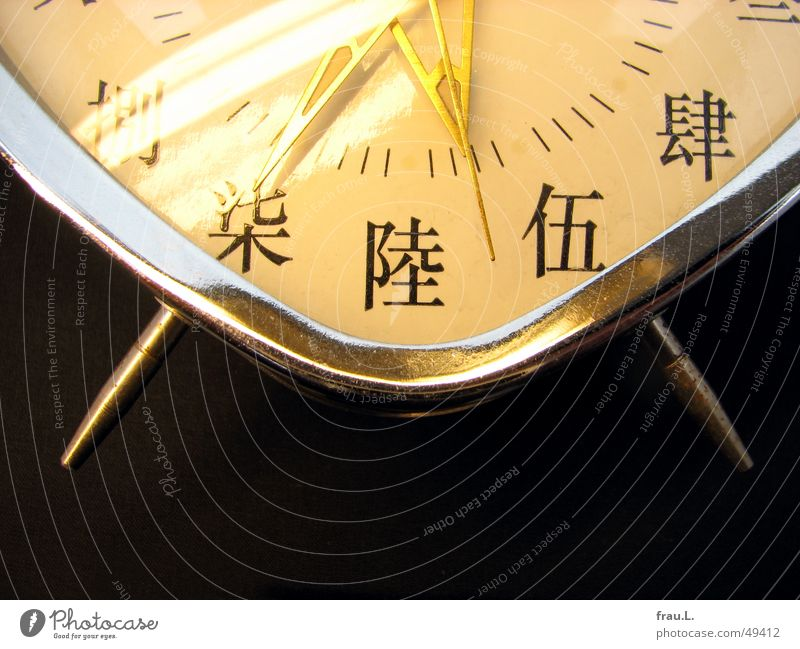 Chinese alarm clock Alarm clock Time Clock Clock face Digits and numbers Entertainment reflex to light Clock hand