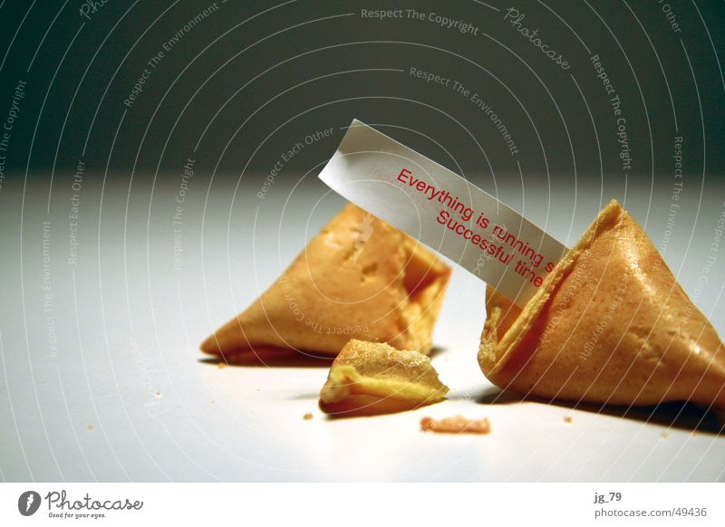 Successful times! Fortune cookie Cookie Baked goods Cake Nutrition China Chinese Fortune-telling Horoscope Future Profession Private Figure of speech