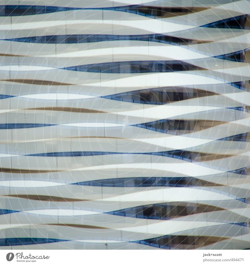 sideswipe Architecture built Facade Stripe Movement Modern Nerdy Design Complex Double exposure Distorted Curved bows Illusion Reaction Swing Subdued colour