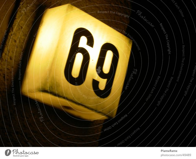 69 House number Light Yellow Evening Statue