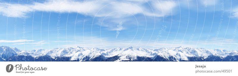 Gerlos 2005 Austria Winter Vacation & Travel White Clouds Alps gerlos panoramic view Blue Sky Mountain