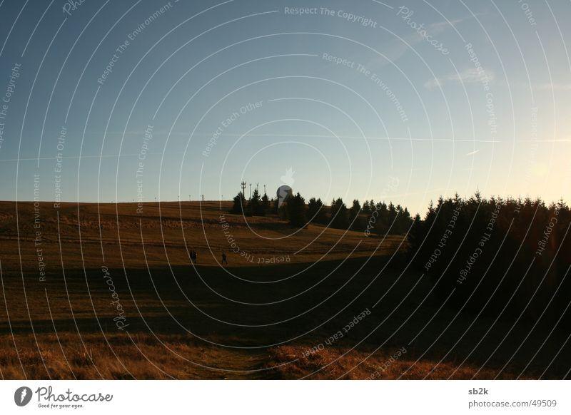 Sky Tree Blue Forest Dark Meadow Mountain Bright Sphere Radar station Rhön Wasserkuppe