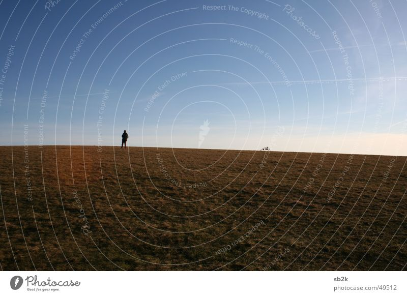 Human being Sky Autumn Meadow Wind Flying Rope Floor covering String Ascending Dragon Rhön Wasserkuppe