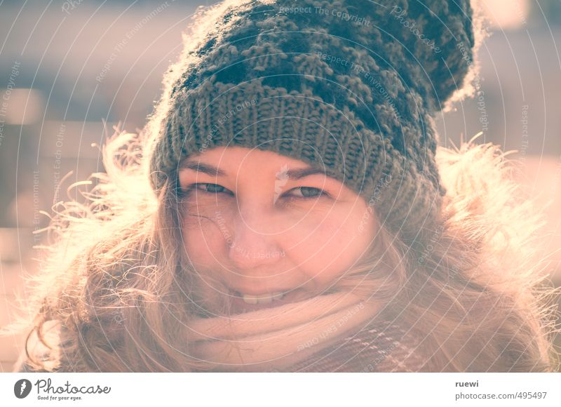 Human being Woman Youth (Young adults) Beautiful Young woman Winter Face Adults Feminine Autumn Hair and hairstyles Style Head Fashion Ice Blonde