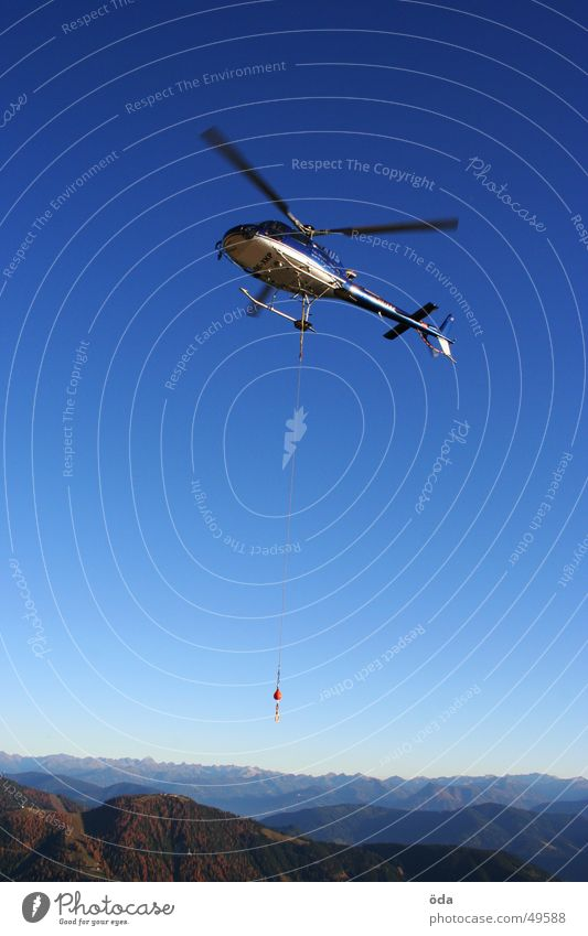 heli alpin Helicopter Weight Horizon Flying Aviation Rotor Rope Logistics Sky Mountain