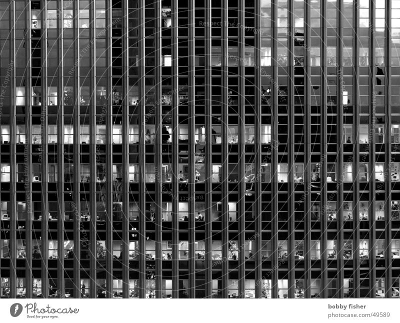 cage posture Work and employment Facade Black White Human being Profession File Glass Architecture
