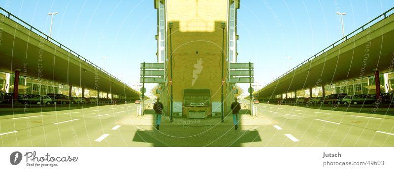 A long way home Bremen False Reflection 2 Street Perspective Double exposure