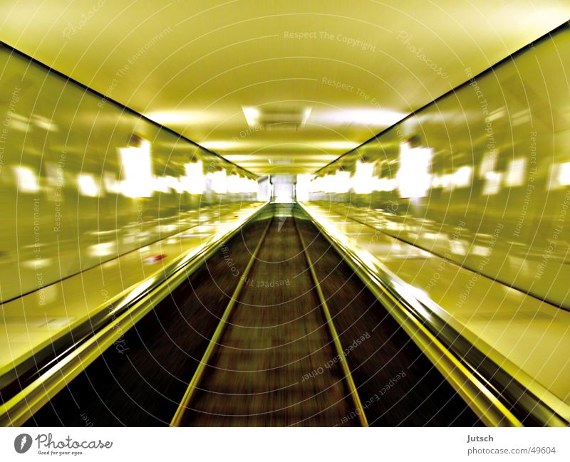 Fast Escalator Green Speed Long Long exposure Hamburg Train station almost Movement