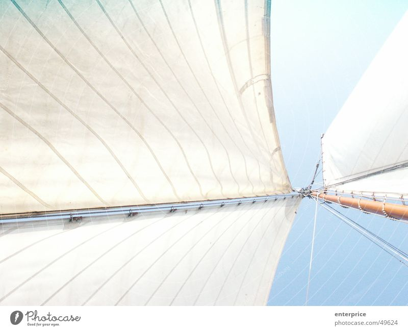 Sky White Blue Dark Above Air Watercraft Bright Power Wind Rope Speed Electricity Soft Firm Infinity