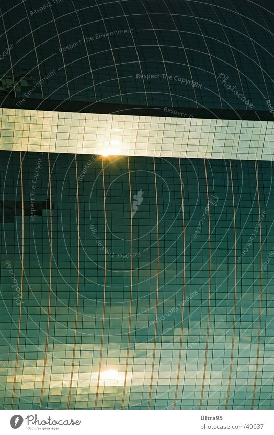 suntrack Facade Reflection Glas facade High-rise Window Bangkok Swimming pool Glass Sun Water Architecture