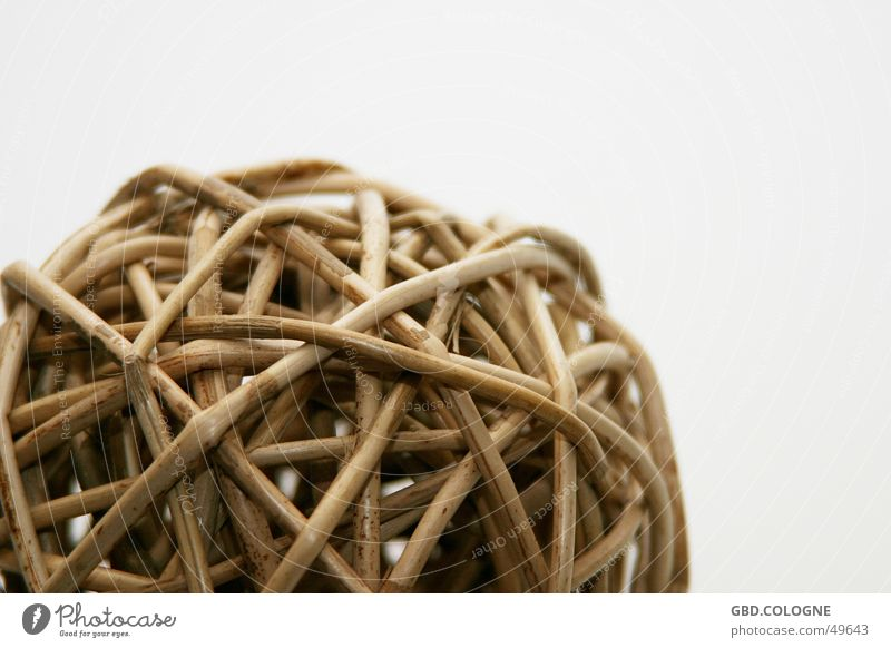 Plant Brown Round Decoration Sphere Beige Dried Reticular Wicker mesh