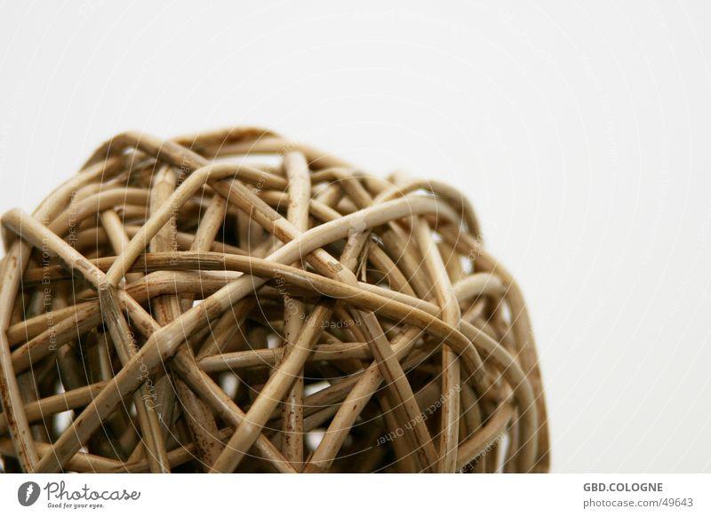 Plant Brown Round Decoration Sphere Beige Dried Reticular Wicker mesh