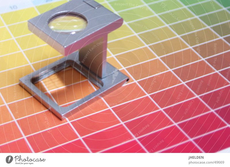 Green Red Colour Yellow Style Line Orange Esthetic Perspective Stripe Sharp-edged Grid Lens Accuracy Quality Magnifying glass