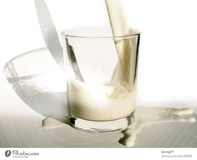 Glass Drops of water Beverage Milk Water