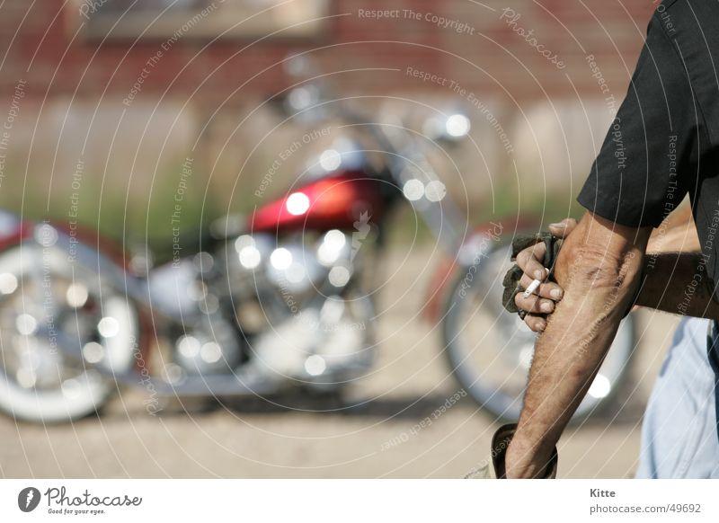 Time to smoke Motorcycle Break Route 66 Americas harley USA Chopper Cool (slang) harley-davidson Freedom Smoking