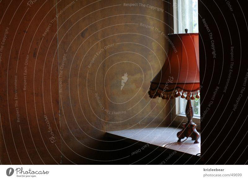 lamp Lamp Window Niche Wallpaper Shaft of light Baboon corner