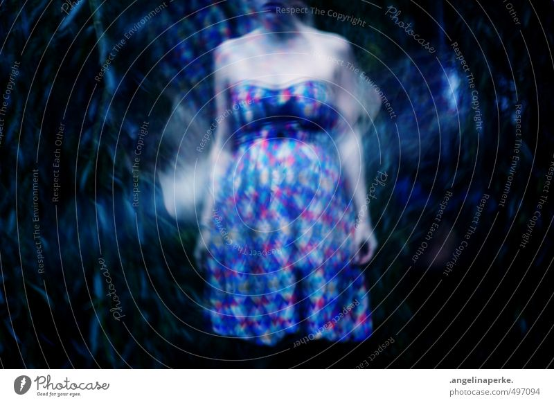 this world isn´t real III Dress dream light reflex Girl Partially visible Weeping willow somber