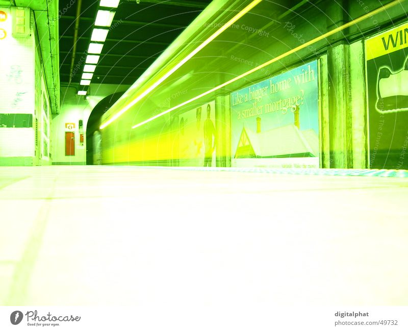 Subway in Sydney Tunnel Underground Light Advertising