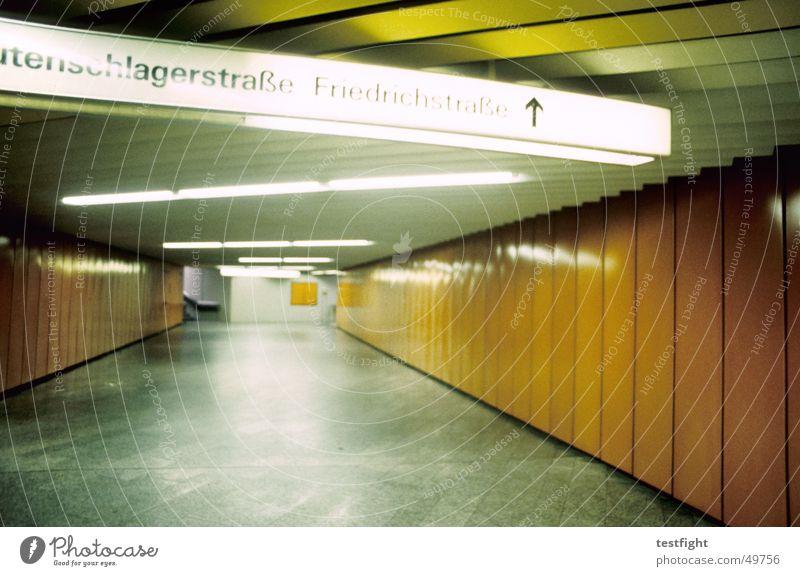 Stuttgart Loneliness Lighting Railroad Empty Underground Road marking London Underground Commuter trains Underpass Stuttgart central station