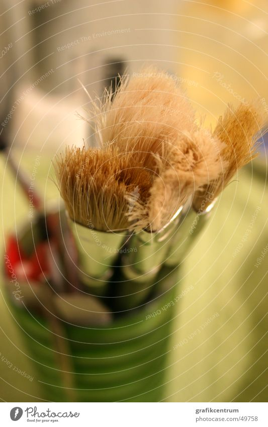 Cosmetic Brushes Cosmetics Paintbrush Living room Bristles Mug Interior shot Hair and hairstyles accessories Macro (Extreme close-up)