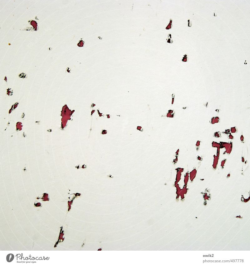 oversight Metal Old Small Trashy Gloomy Crazy Bizarre Transience Change Destruction Scratch mark Claw mark Abrasion Tracks Derelict Dye White Gray Red