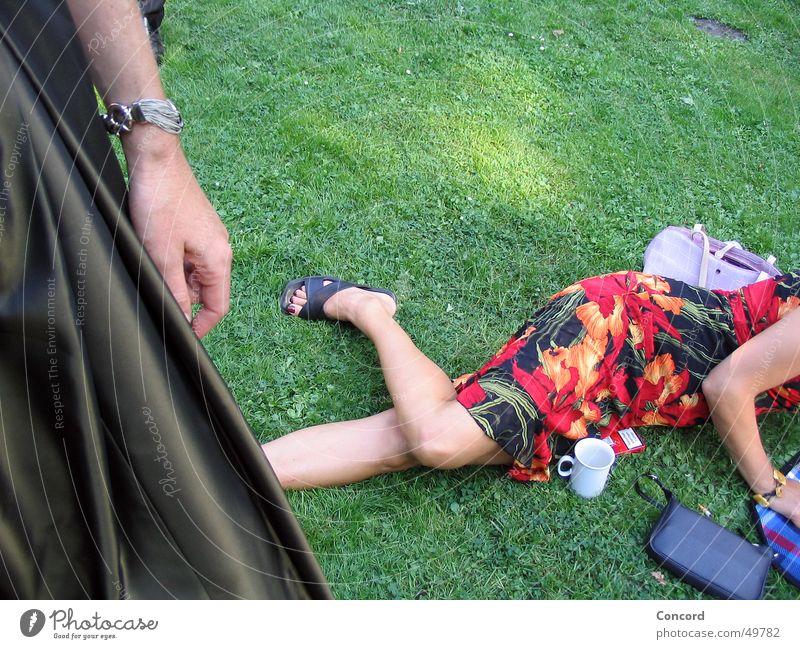 Woman Meadow Garden Feasts & Celebrations Arm Lie Dress Partially visible Festive