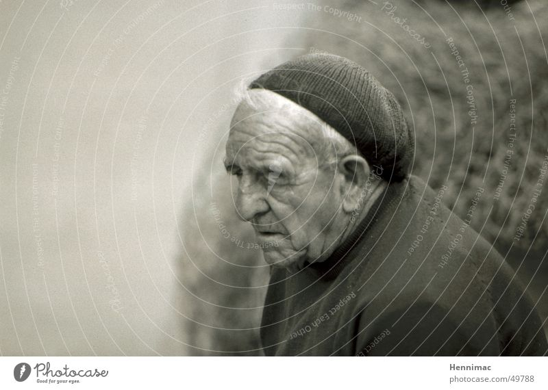 Man Old Adults Face Death Senior citizen Gray Dream Wrinkle End Wrinkles Fatigue Year Grandfather Thought Respect