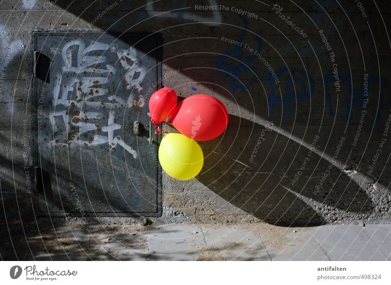 City Red Joy Yellow Graffiti Wall (building) Wall (barrier) Playing Gray Stone Feasts & Celebrations Facade Door Birthday Decoration Characters