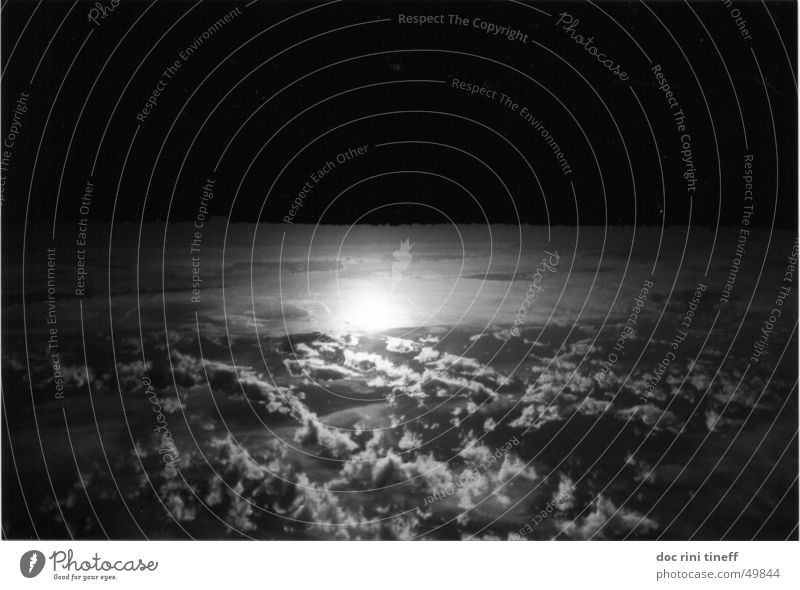 down under Clouds Sunset Black White Sky Black & white photo