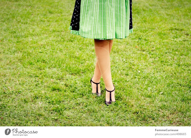 Human being Woman Child Youth (Young adults) Beautiful Young woman Black 18 - 30 years Adults Eroticism Feminine Grass Fashion 13 - 18 years Esthetic Lawn