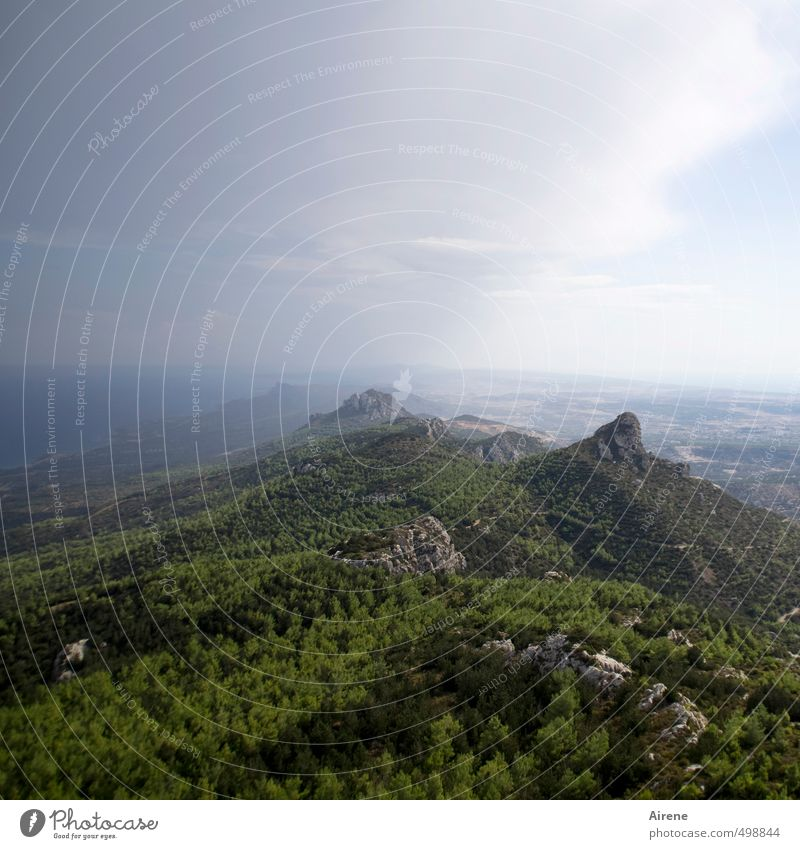 Creation third day 2.0 Vacation & Travel Trip Far-off places Freedom Mountain Nature Landscape Elements Air Water Sky Clouds Horizon Forest Rock Peak Ocean