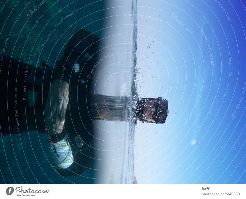 emergence Dive Ocean split screen