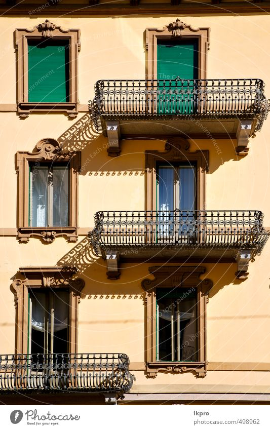 old wall and terrace in the Vacation & Travel Trip Village Town Architecture Facade Balcony Terrace Monument Concrete Metal Steel Rust Line Old Dirty Historic