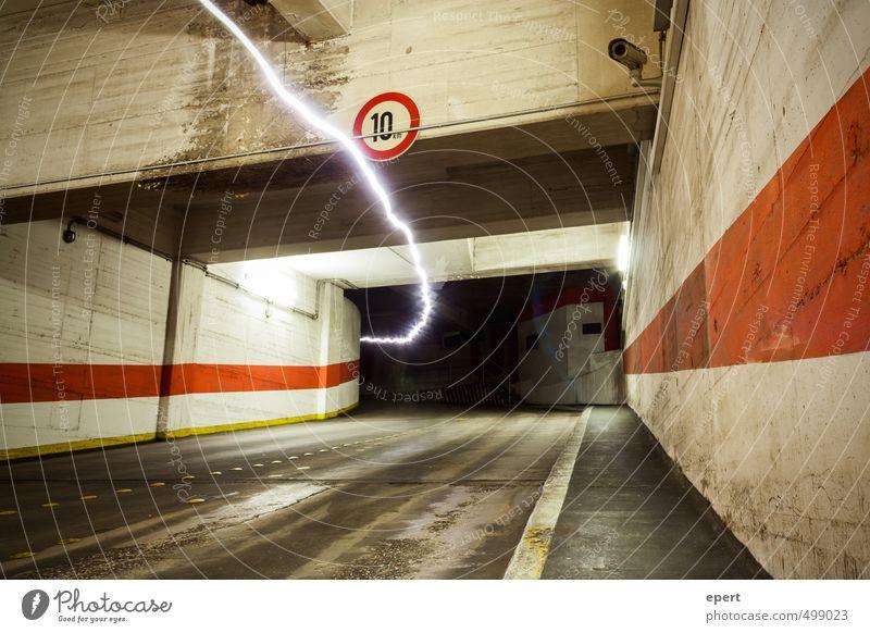 Park Light System II Parking garage Wall (barrier) Wall (building) Street Tunnel lightning bolt Radiation Sunbeam Electricity Movement Illuminate Town Energy