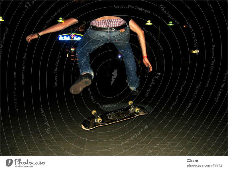 night flip Sports Skateboarding Action Salto Funsport Human being Evening fly