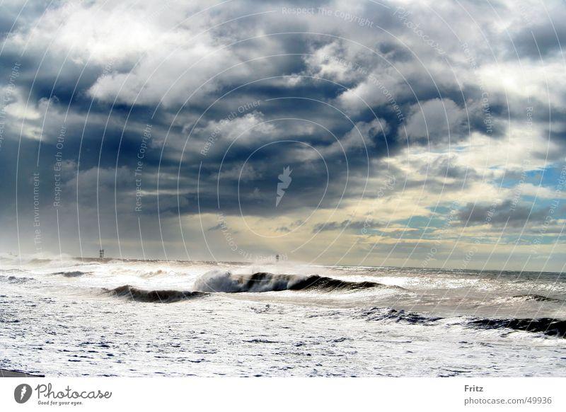 Water Ocean Clouds Lake Gale