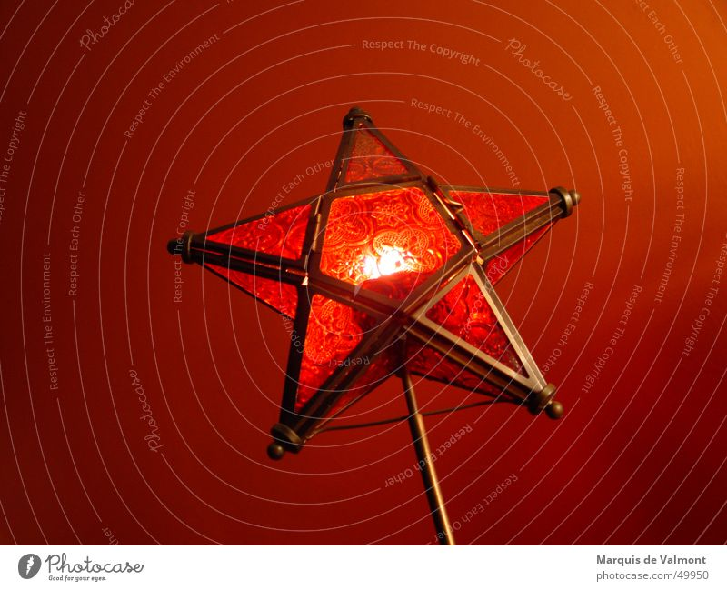 Christmas & Advent Red Warmth Moody Glass Star (Symbol) Candle Decoration Tradition Christianity Flare Storm laterne