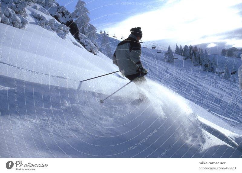 blo[:win:]ter Skiing Deep snow Stick Cap Jacket Snow powder Elevator skiers
